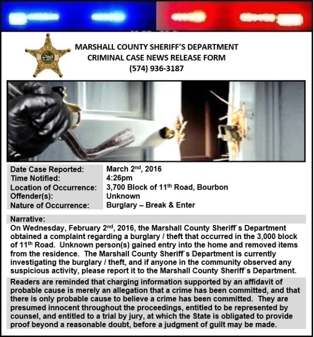 Burglary News