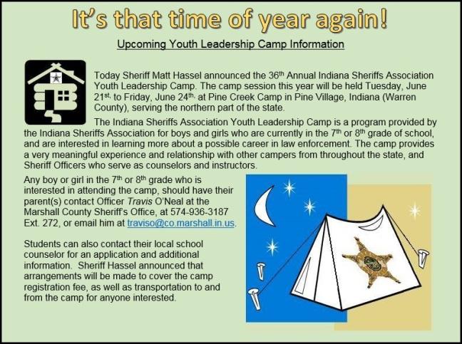 Camp Announcement 2016