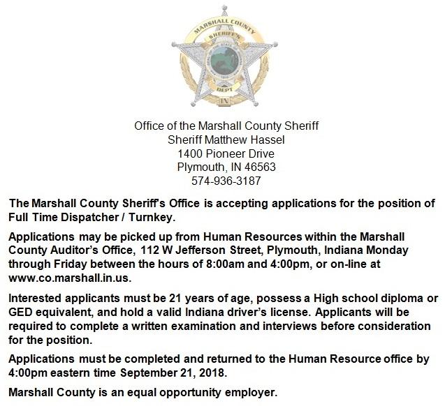 Job Opening 9-10-18