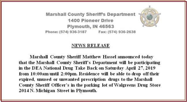 News Release 4-23-19